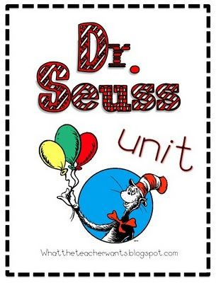 Dr. Suess activities for our rhyming unit