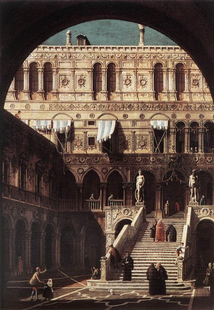 Giovanni Antonio Canal, il Canaletto - Scala dei Giganti, 1765