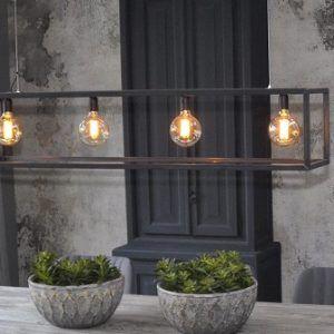 Hanglamp-staal-industrieel-kooldraad
