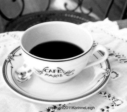 Cafe Paris   8x8 black and white photograph by galleryoncentral on etsy.