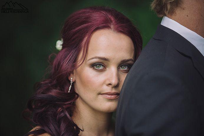 Red haired bride, spring wedding, queenstown wedding