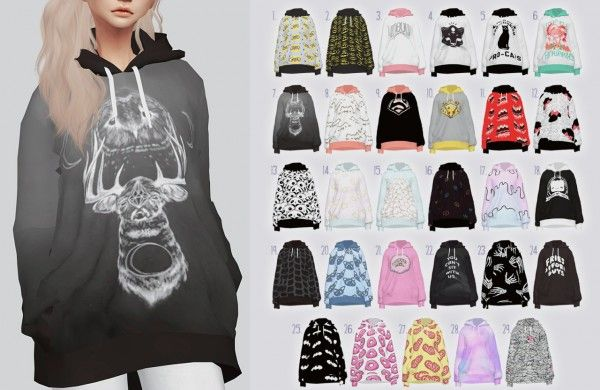 Kalewa-a: Random Hoodies • Sims 4 Downloads