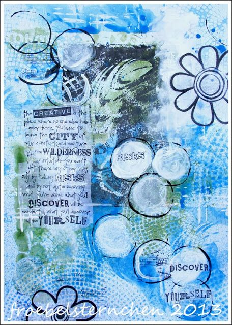froebelsternchen: Art Journaling has no rules ....