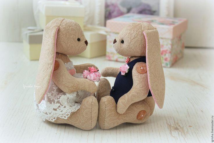 Купить Свадебные зайчата - свадебные зайцы, свадебные аксессуары, свадебный подарок, свадьба, невеста