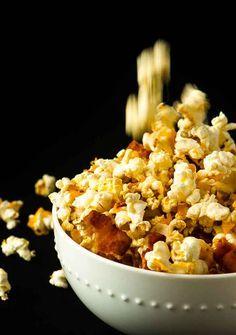 Cheddar Bacon Popcorn via @mydishisbomb