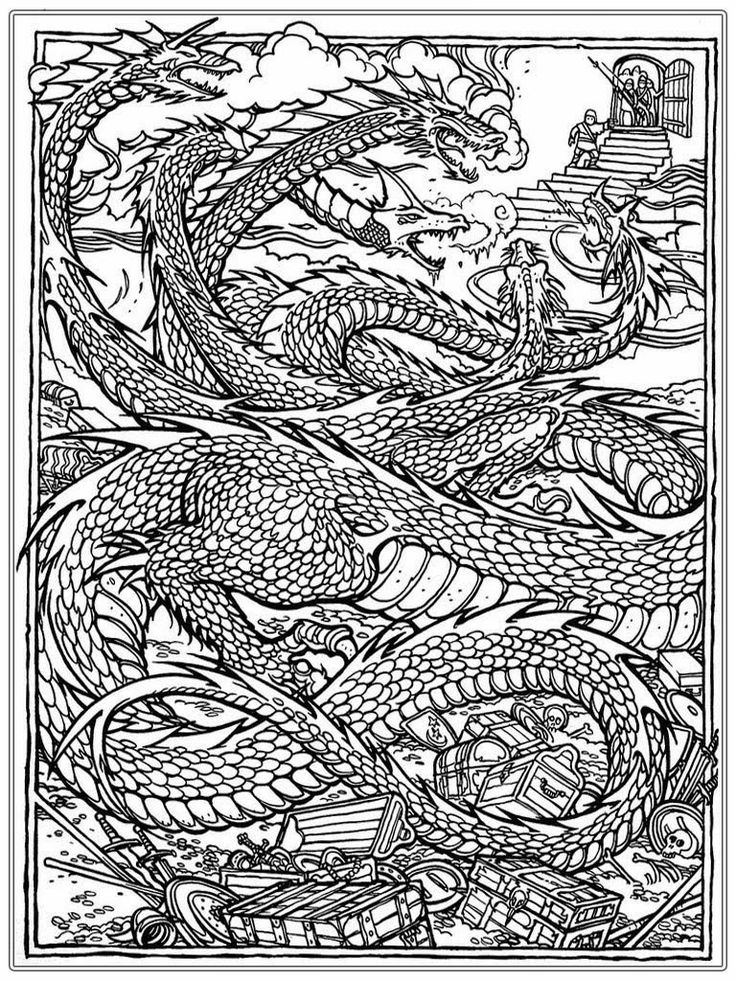 Chinese Dragon Adult Coloring Pages Realistic Coloring