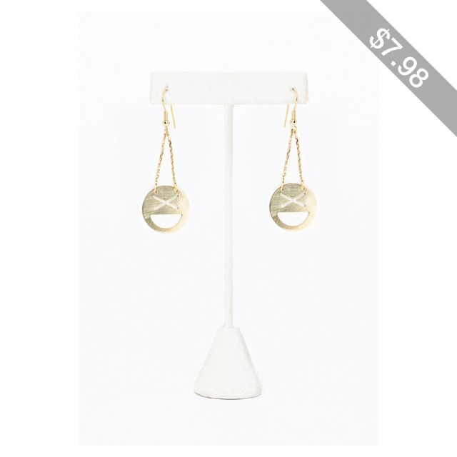 Missguided Caitlan Excited Emoji Cut Out Earrings Gold