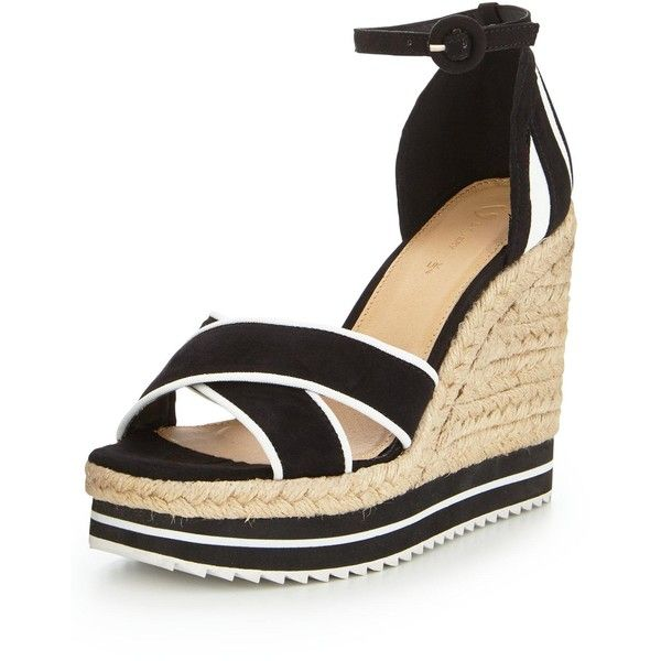 V By Very Breeze Sporty Colour Block Wedge Sandal ($32) ❤ liked on Polyvore featuring shoes, sandals, wedge heel shoes, chunky wedge sandals, summer sandals, block wedge sandals and wedges shoes