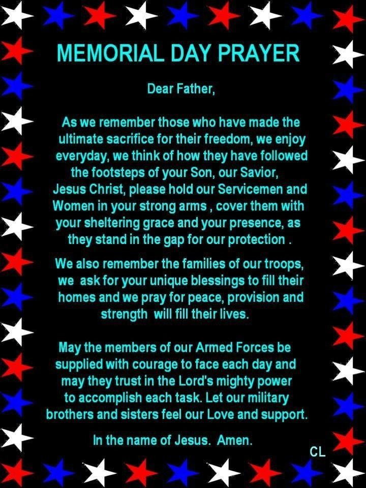 memorial day prayers god