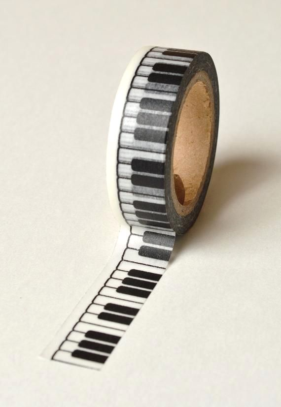 We Just Love This Tape It Gives Our Craft Projects And Packaging That Special Touch Easy To Use And Tacky The Washi P Piano Keys Gift Box For Men Black Piano