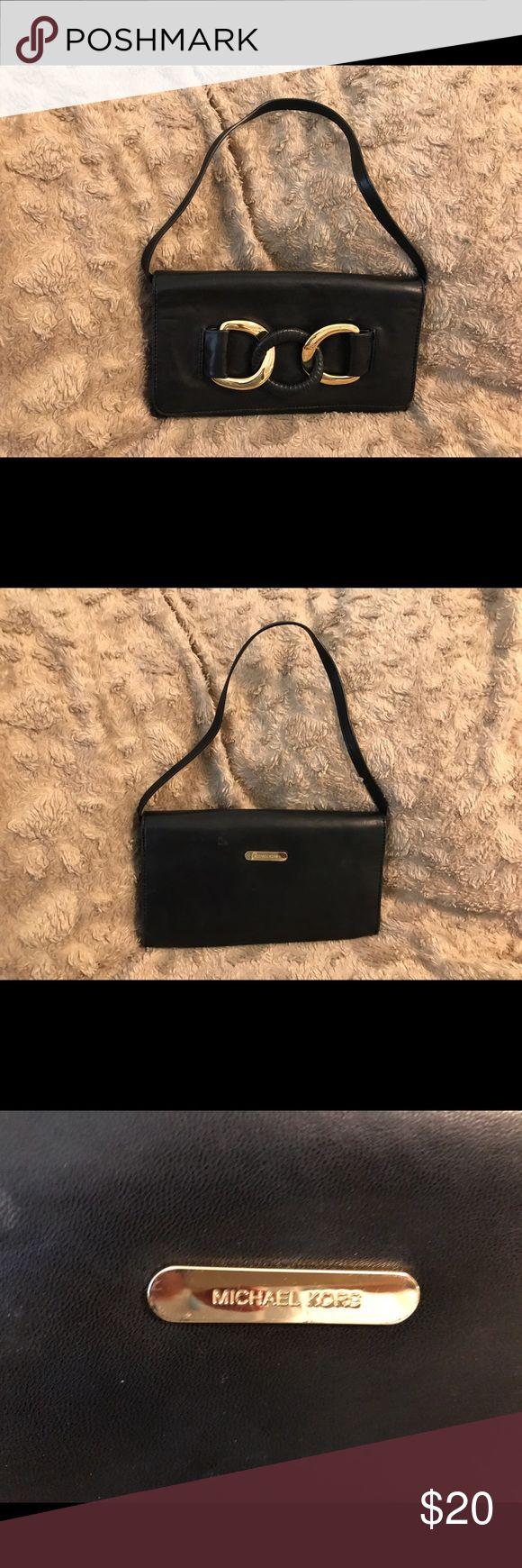 Michael Kors small black bag Soft black leather. Evening bag MICHAEL Michael Kors Bags Mini Bags
