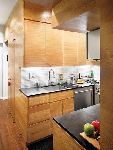 5m2 pour une cuisine design en bois
