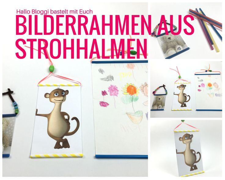 Baut Ihr einen Bilderrahmen aus einem Strohhalm mit mir?JAAAA!!! www.hallobloggi.de