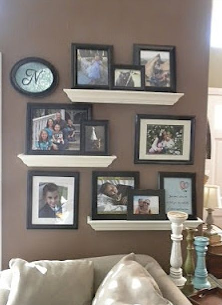 Great idea for displaying lots of photos without all of those holes in the wall!