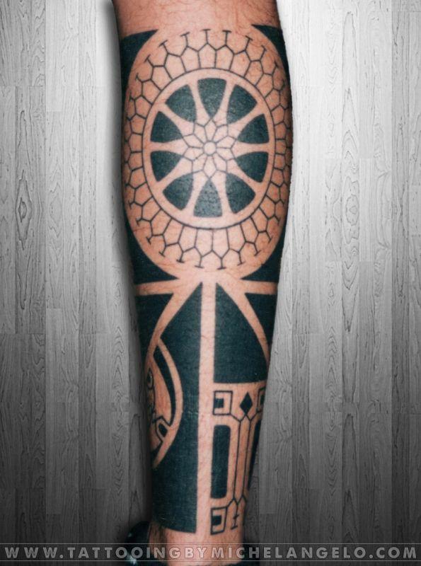 Mezza gamba in stile marchesano   stile marchesano blackwork    Tattoo by Michelangelo   Tribal tattoos   Tatuaggi tribali