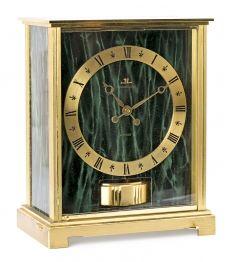 """Jaeger Lecoultre """"Atmos"""", reloj de sobremesa en metal dorado, del tercer cuarto del siglo XX"""