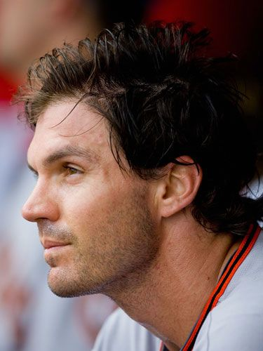 zito.  I am quite new in the world of baseball.  But this guy is my favorite player because he does know that being a balance on the field makes you a better player and human being.  <3