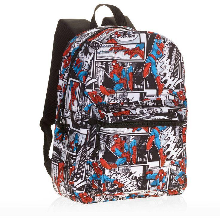 Spidey Spider-Man Comic Print Backpack 16 inch standard Spiderman #Marvel #Backpack