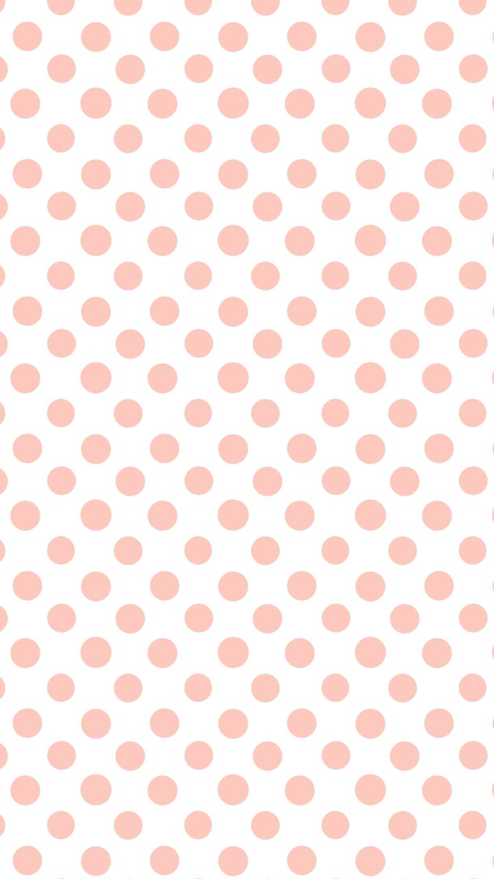 white coral peach polka dots spots iphone wallpaper
