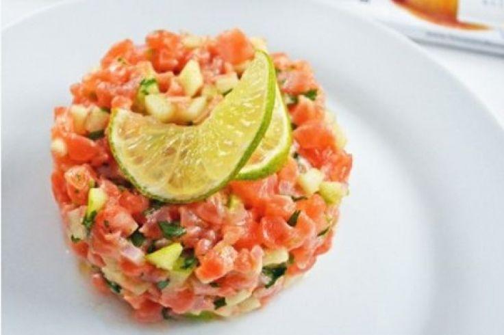 Tartare de saumon rafraichissant