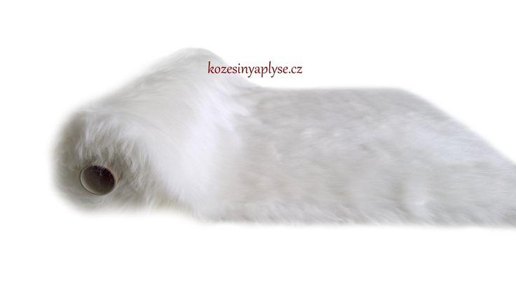 Umělá kožešina bílá vlas 60 mm