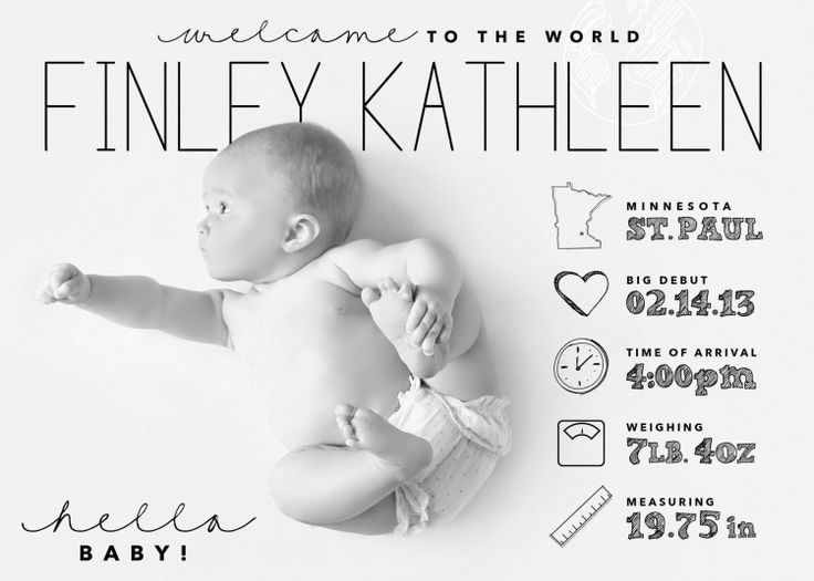 Infographic Style Baby Announcement