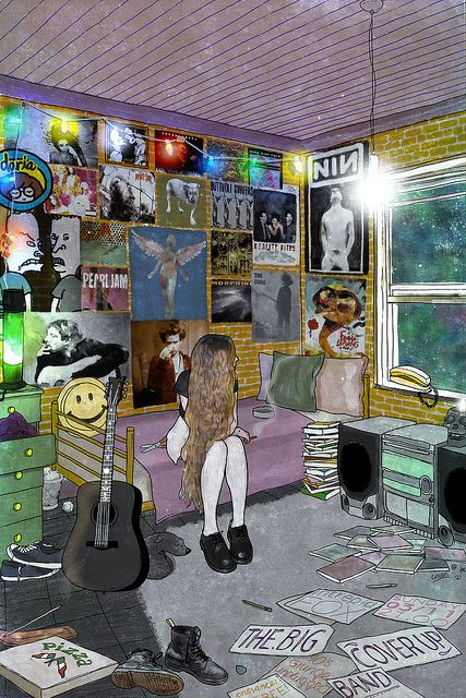 The big cover up band 90's grunge.  NIN, Nirvana, Pearl Jam, The Cure,  Pj Harvey etc.♥