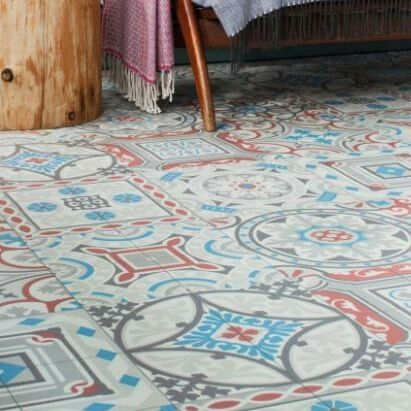 Shalimar Vinyl Flooring Patterned Patchwork Encaustic
