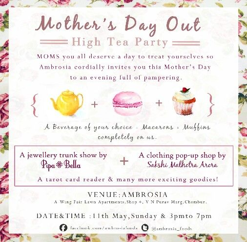 Mothers Day out! High Tea party:D