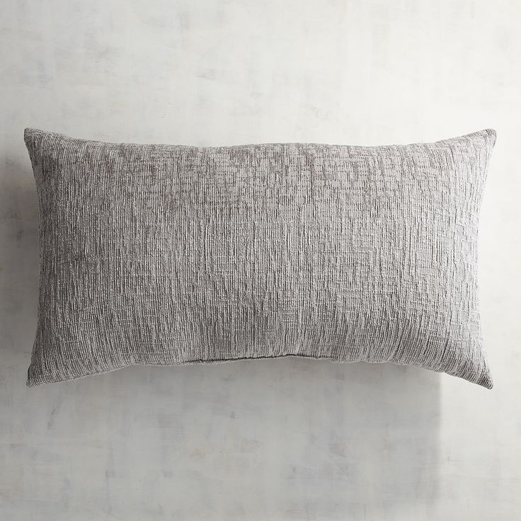 Delaney Chenille Pewter Lumbar Pillow Gray