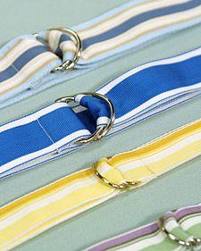 Ribbon Belt and Bracelet: DIY J.Crew or Gap Style belt and bracelet. Check out www.jkmribbon.com for some cool striped grosgrain.