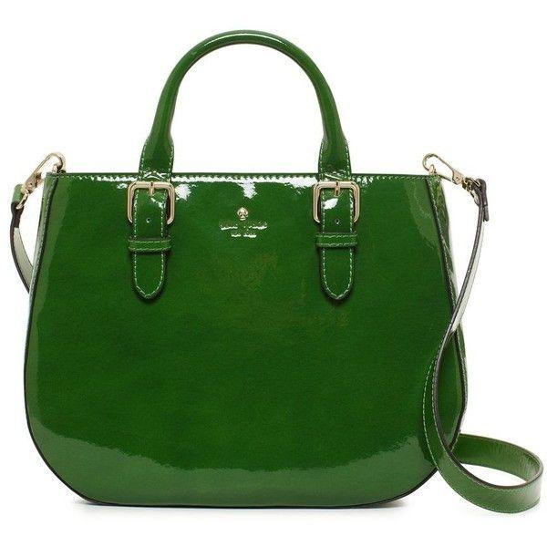 Carlislie Street Sylvie found on Polyvore: Dark Spearmint, Patent Leather, Carlisl Street, Carlisli Street, Street Sylvi, Kelly Green, Green Bags, Kate Spade, Green Pur