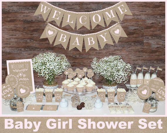 Save OVER 50% with the Baby Shower Mega Set! This adorable printable Rustic Baby Girl shower MEGA SET has Everything you need to throw a perfect baby shower that will be sure to impress your guests. ►All files are in digital format and will be emailed to your ETSY email address