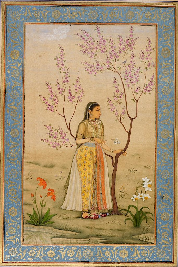 Lady with a narcissus, perhaps Mumtaz Mahal