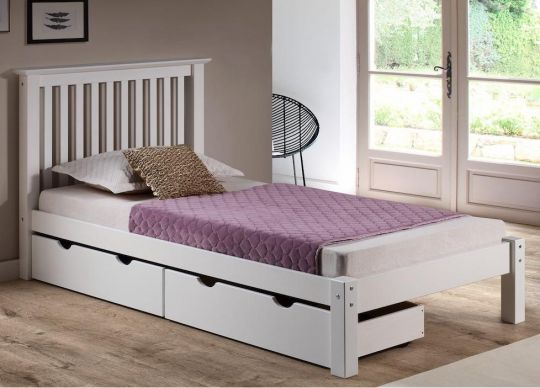 The Barcelona Twin Bed w/ Storage Drawers comes complete with