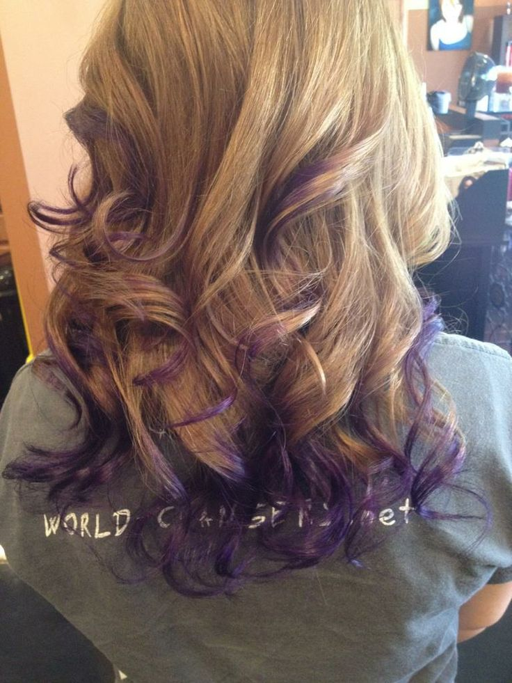 Purple Ombre Hair I Like That Its Just The Underneath