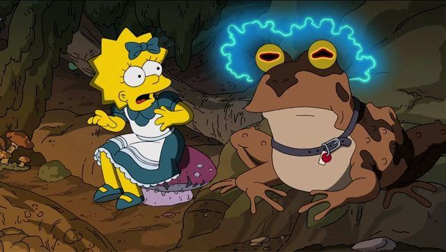 Hypnotoad in the beginning of The Simpson, treehouse of horror XXIV