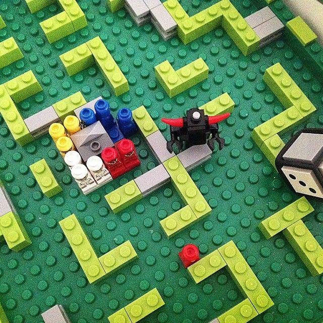 Kill or Lose #lego #minotaurus #boardgame #important #turn #roll