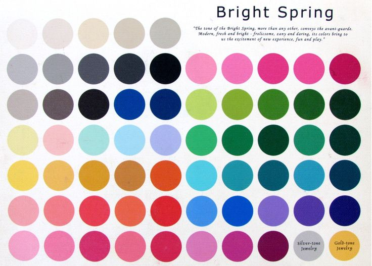 The Bright Spring Color Palette ~ please do take in to consideration that the colors may vary slightly from the original due to the translation from the canvas to your computer screen.