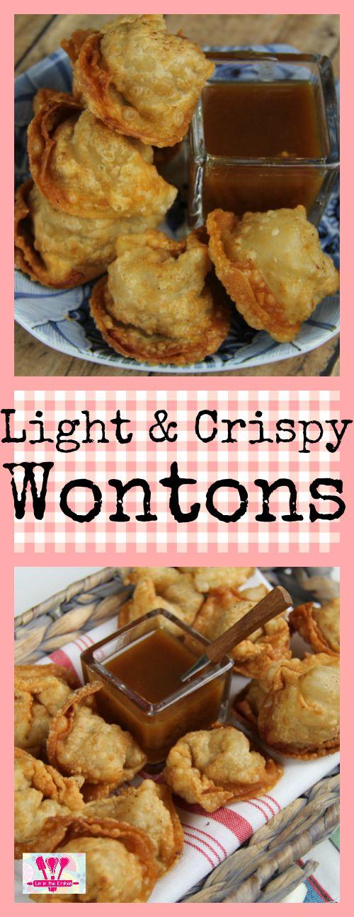 A light and crispy wonton recipe that uses ground turkey!