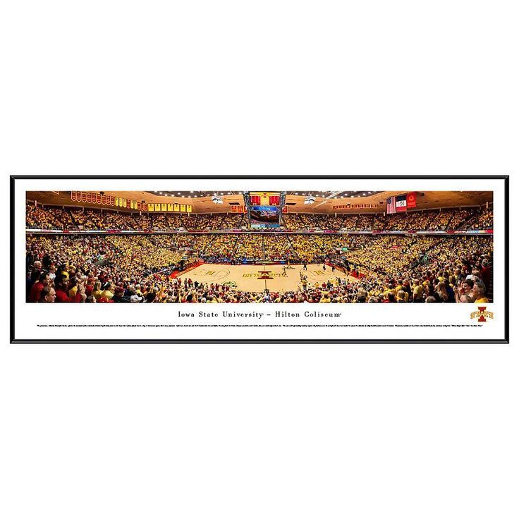 Iowa State Cyclones Basketball Arena Framed Wall Art, Multicolor