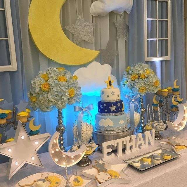 Baby Ethan's beautiful baby shower | CatchMyParty.com