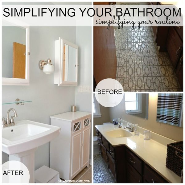 Simplifying Our Bathroom Simplifying Our Routine