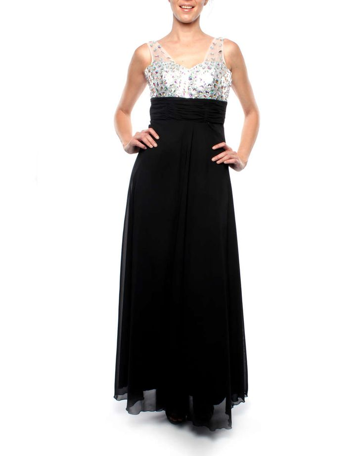 Snow White Sparking Chiffon Evening Gown - Black | Buy Online in South Africa | takealot.com