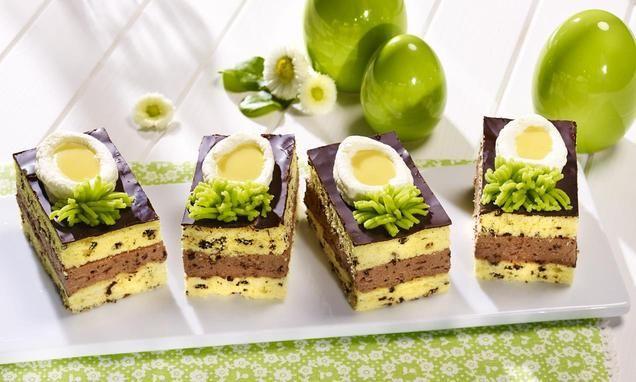 Österlicher Eierlikörkuchen                              -                                  Ein dekorativer Eierlikörkuchen vom Blech