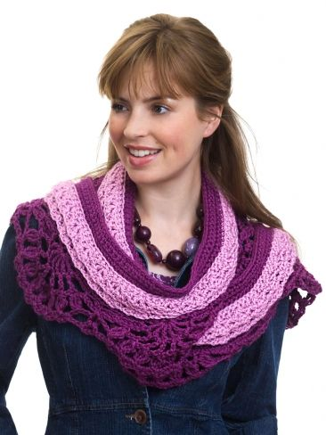 Infinity Scarf Knitting Pattern Thin Yarn : Crocheted Layered Scarf Yarn Free Knitting Patterns ...