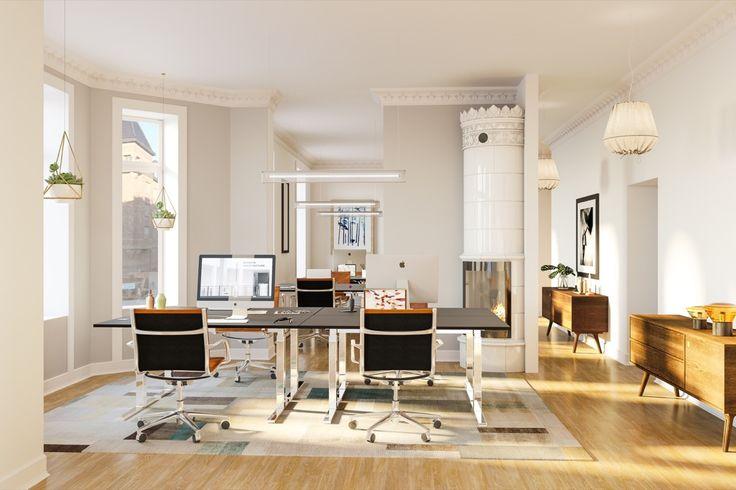 Dalagatan, Office Classic Stockholm style, PS,  Interior design, Scandinavian design, 3D visualisation, render, archviz, 3Ds Max, modern design, styling