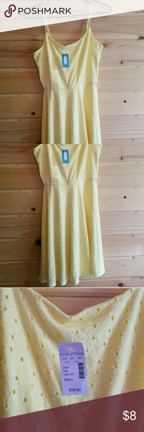 WEEKEND SALE Maurices yellow dress Summer dress size Small nwt Maurices Dresses