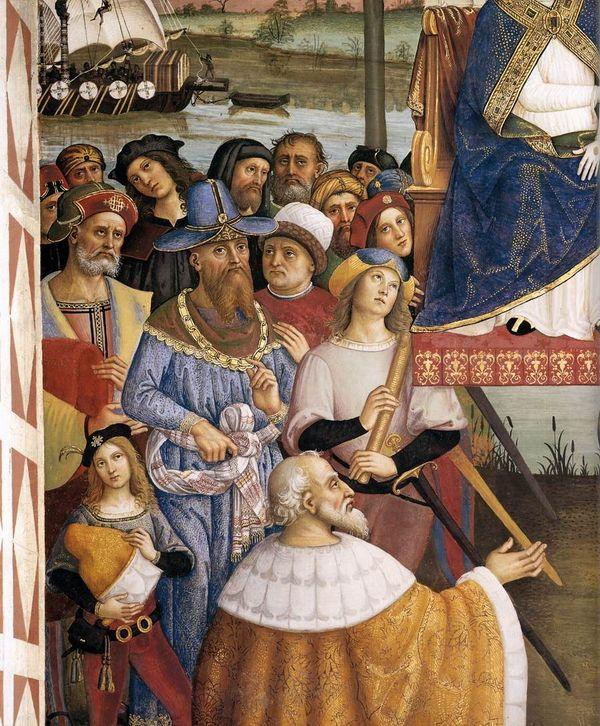 Папа Римский Пий II  в Асконе (деталь)