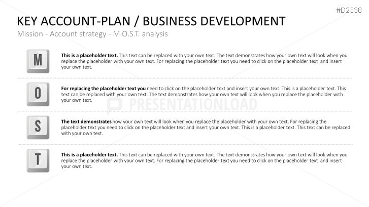 Key-Account Management Powerpoint Key-Account-Plan / Business